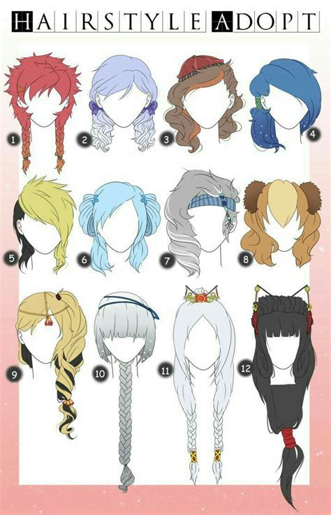 Anime Styles by Hairstyle Adopt Hairstyles Text How To