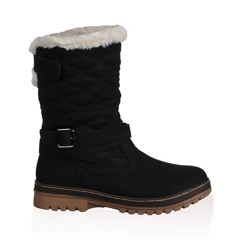 new quilted womens faux fur grip sole winter snow