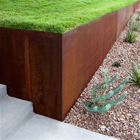 steel retaining wall google search outside pinterest