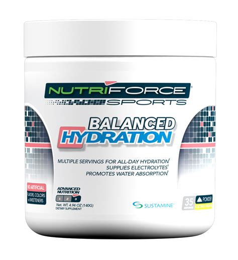 l glutamine hydration nutriforce sports introduces balanced hydration with