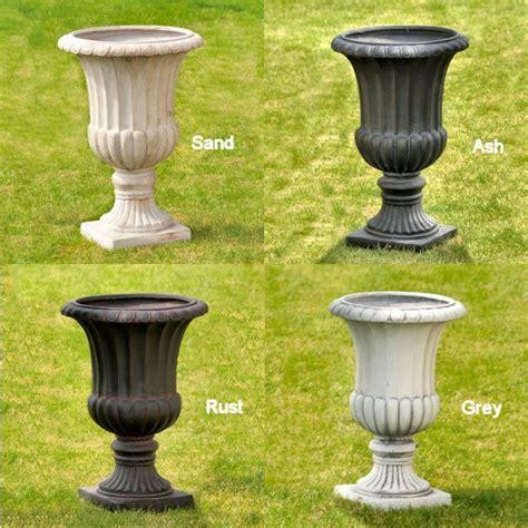 Garden Planters And Urns by Medium Classic Fibreclay Garden Urns Pots Planters