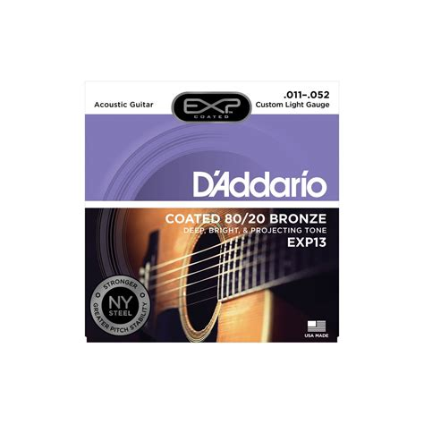 d addario light acoustic guitar strings d addario extended exp13 80 20 bronze acoustic guitar