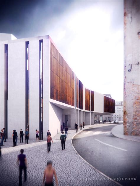 design concept for city hall architectural rendering architecture concept of cinema