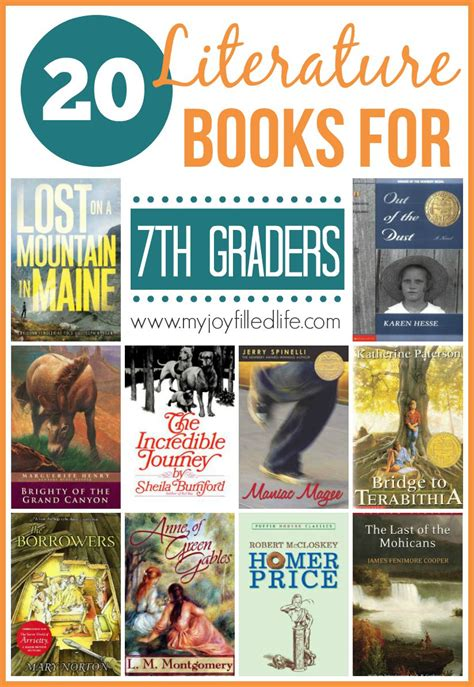 themes in literature 7th grade 20 literature books for 7th graders my joy filled life
