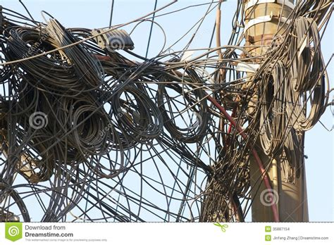 messy wires messy wires stock photo image of disorder wire pillar
