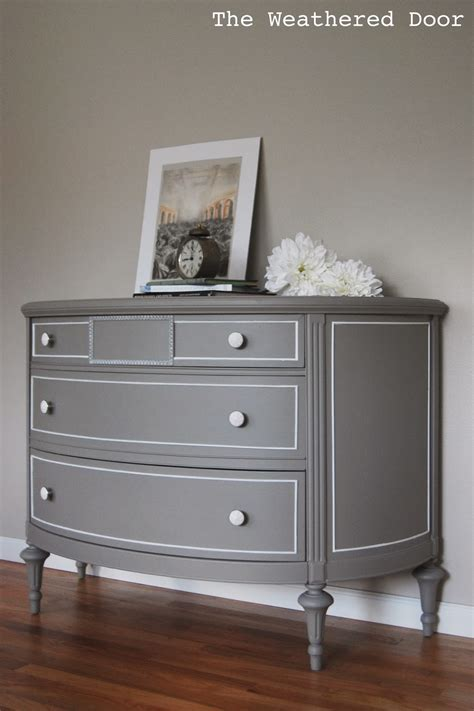 beautiful bedroom decoration ideas using 3 drawer gray painted dresser including grey sheraton