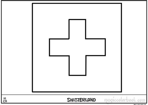 Switzerland flag coloring pages free