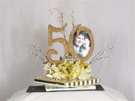 50th anniversary centerpiece craft ideas pinterest