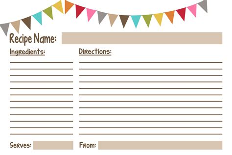 Can I Find A Customizable Recipe Card Template by Recipe Cards Free Printables Geminired Creations