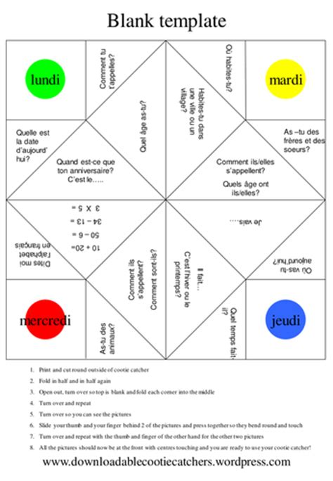 origami fortune teller by christineebdy teaching resources tes
