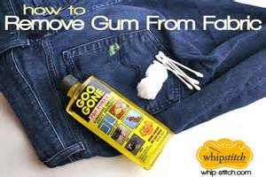 How To Get Gum Out Of Car Upholstery by How To Remove Gum From Clothes Curatatorie Chimica