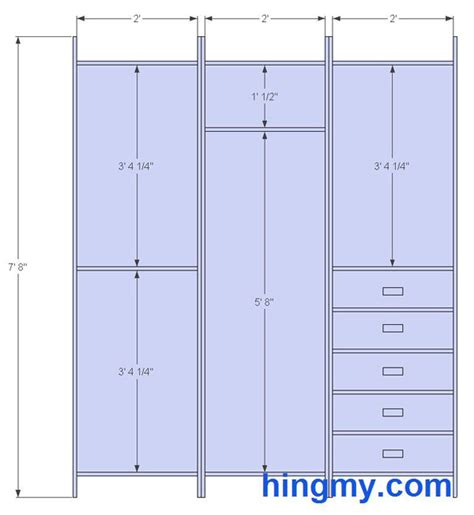 Size Of Closet by Designing A Built In Closet