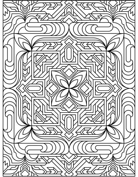 coloring pages art deco art deco geometric coloring page art painting watercolor