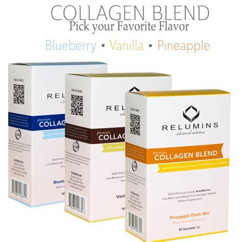 Collagen Tea relumins premium collagen blend pineapple blueberry and