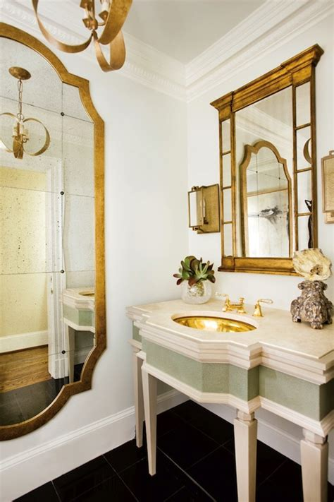 Gold Bathroom Mirrors Gold Mirror Bathroom J Hirsch Interior Design
