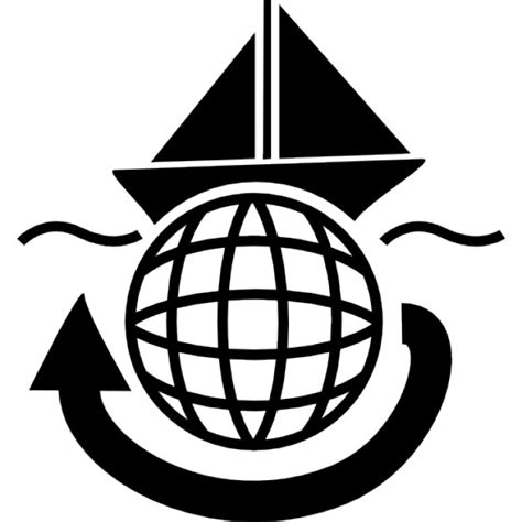 boat icon word sailing boat travelling around the world icons free download