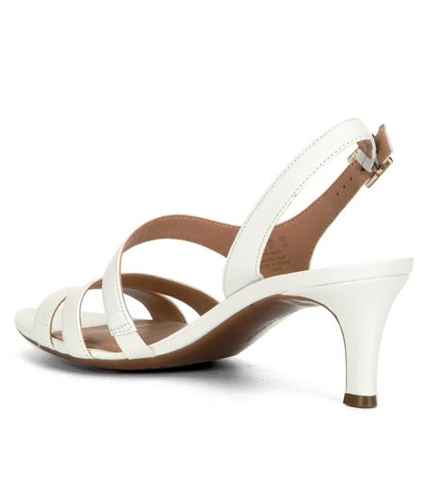 white dress sandals naturalizer taimi dress sandals in white lyst