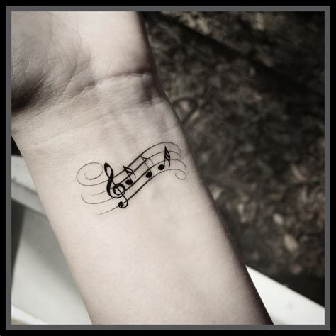 tatuaje tattoo m 250 sica nota tatuaje tatuajes temporales tatuajes de m 250 sica