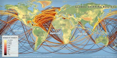 ship route map map of the day global shipping routes diverging markets