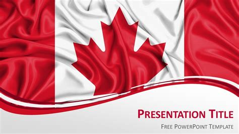 Canada Powerpoint Template canada flag powerpoint template presentationgo