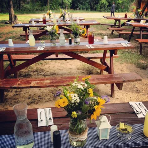 best 25 picnic table decorations ideas on