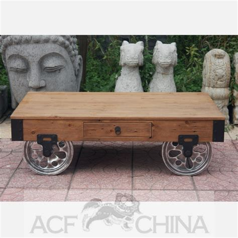 Industrial Modern Warehouse Cart Coffee Table Warehouse Cart Coffee Table