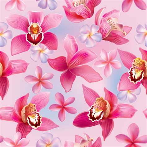 orchid pattern vector orchid free vector download 77 free vector for