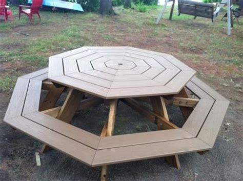 trex octagonal picnic table    home projects