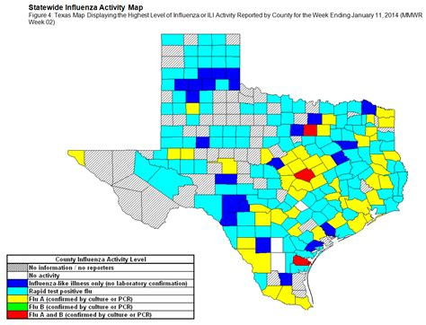 texas flu map 2013 2014 texas influenza surveillance information current flu activity report week 2
