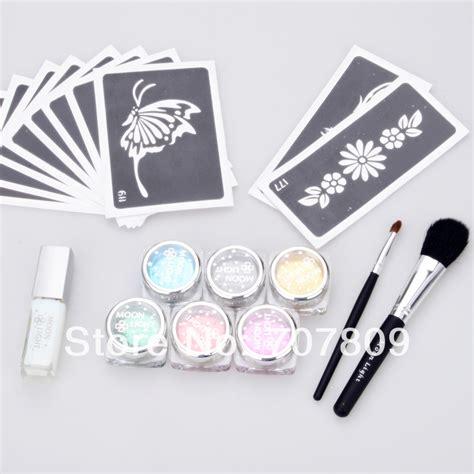 tattoo kit wholesale 2sets wholesale c glitter tattoo kit 6 color powder with