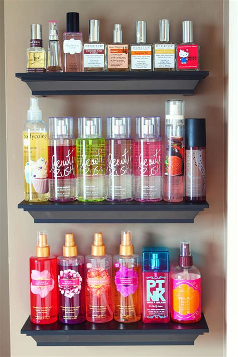 organizing bathroom shelves bathroom shelves organizing perfumes and lotions 2 kevin