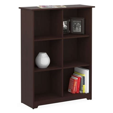 bush cabot 6 cube bookcase in harvest cherry wc31465 03