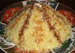 seffa medfouna recipe vermicelli with saffron chicken