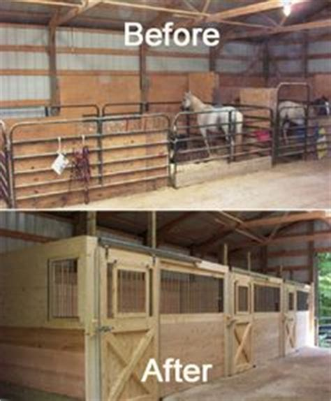 open area for future stalls 8 stall horse barn with great wall of organization so clean equestrian
