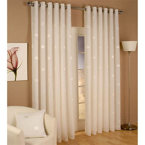 eyelet drapes miami lined voile eyelet curtains cream