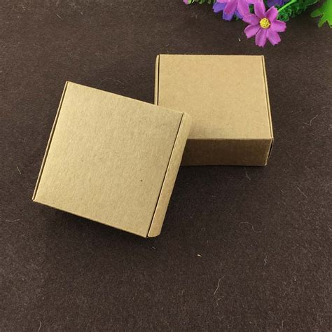 Craft Paper Gift Boxes - 50pcs lot kraft gift box paper packing box blank gift