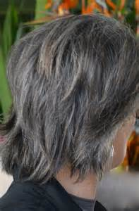 grey hair with black streaks streaking grey hair with brown gray hairstyles images