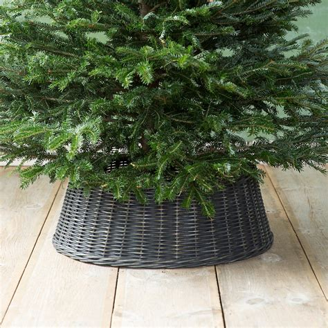 tree with skirt wicker basket tree skirt black terrain