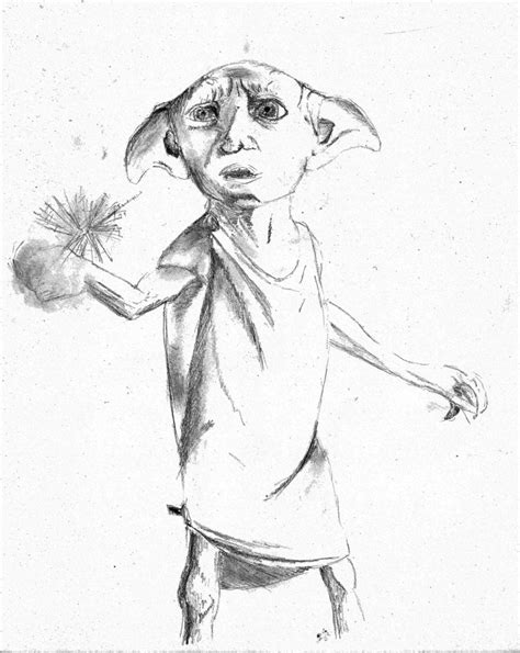 harry potter coloring pages of dobby dobby by bigfish22 on deviantart