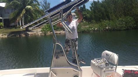 boat t top diy 123 folding t top youtube