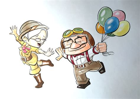imagenes de up art thom zahler art studios 187 carl and ellie from up