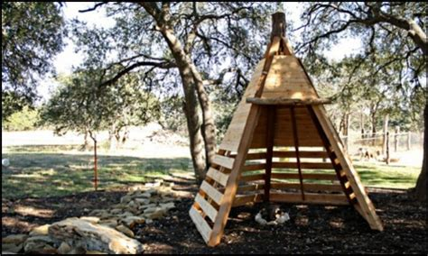 Tiny Backyard Ideas Build Your Kids A Wooden Teepee Tent Diy Projects For