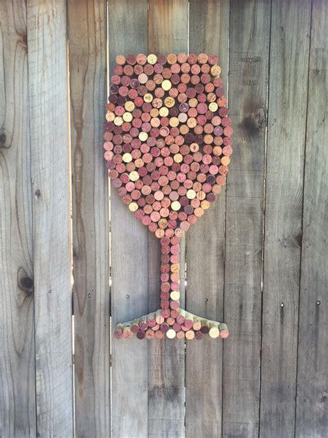 wine cork home decor items similar to wine glass wine cork cork art home