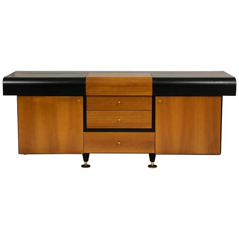 1980s furniture pierre cardin sideboard buffet dresser black and wood