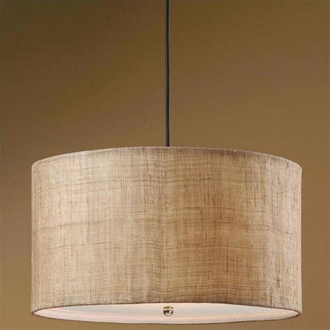 burlap drum shade ceiling light uttermost dafina 3 light antiqued burlap weave drum