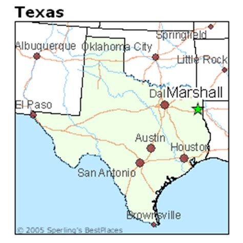 marshall texas map best places to live in marshall texas