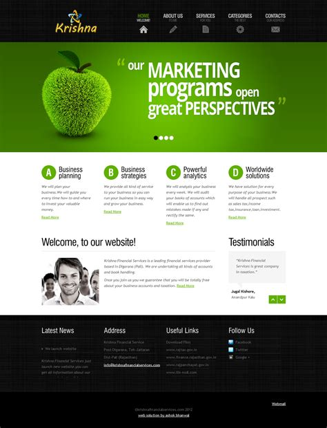 Krishna Financial Services Website Ashok Bhanwal Website Template