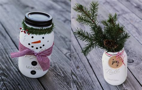 christmas crafts wirh mason jars crafts ideas step by step blue mountain