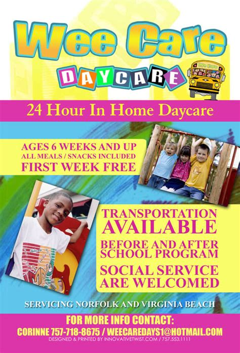 daycare flyers templates free wee care daycare chagne daycare preschool open houses