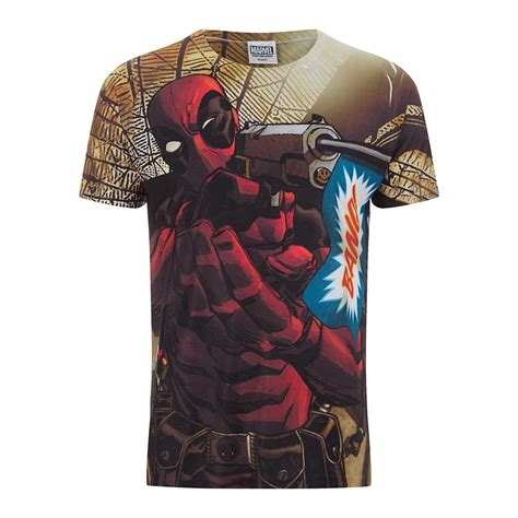 Tshirts Dc 1 marvel s deadpool t shirt white merchandise zavvi